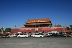 Beijing's tiananmen square Royalty Free Stock Photo