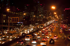 Beijing's traffic jam Royalty Free Stock Image