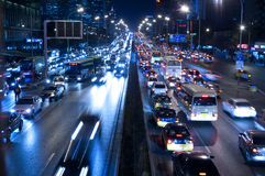Beijing's traffic jam Royalty Free Stock Photo