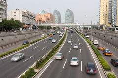 Beijing's urban traffic. Urban traffic of Beijing, China Royalty Free Stock Photo