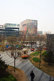 Beijing Sanlitun Commercial District Stock Photography