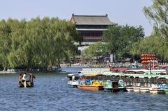 Beijing Shichahai, Beijing lopp Arkivbilder