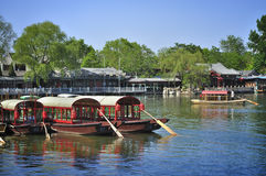 Beijing Shichahai ,Beijing Travel. Shichahai is a scenic spot in Beijing city center.Around Shenshahai has many historical construction and the garden.The Royalty Free Stock Photo