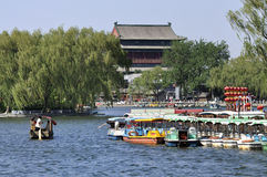 Beijing Shichahai ,Beijing Travel. Shichahai is a scenic spot in Beijing city center.Around Shenshahai has many historical construction and the garden.The Stock Images