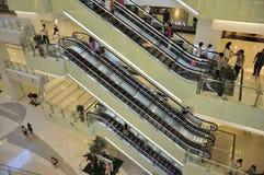 Beijing Shopping Mall Elevator Stock Photo