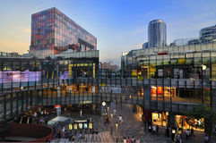 Beijing  shopping mall night scenes Stock Image