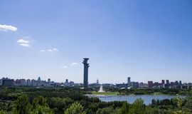 Beijing sightseeing tower. Beijing Olympic Forest Park Royalty Free Stock Image