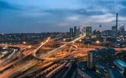 Beijing Sihui Overpass Night Royalty Free Stock Photos