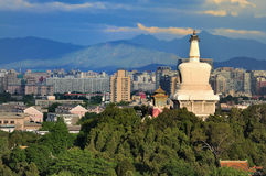 Beijing skyline,Beihai Park, stock photo