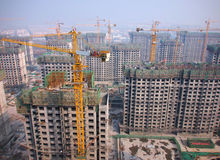 Beijing Skyline ,Crane in Construction Stock Image