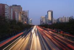 Beijing skyline at night Stock Photos