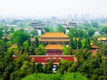 Beijing& x27; slottar för s Forbidden City Arkivfoton