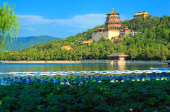 Beijing sommarslott, Kina Royaltyfria Bilder