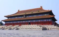 beijing stad förbjuden slott Arkivfoto