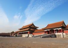 beijing stad förbjuden slott Royaltyfria Foton