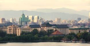 beijing stadssikt arkivbilder