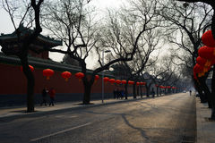 Beijing street,china Royalty Free Stock Photography