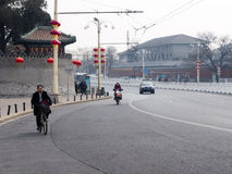 Beijing street with low traffic Stock Photos