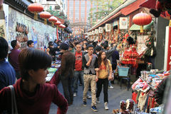 Beijing street market Royalty Free Stock Images