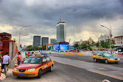 Beijing   street scene Stock Images