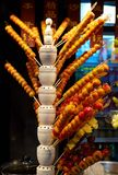 Beijing Street Snacks - Sugar Coated Fruits. Depicted in the photo is a shop in Wangfujing of Beijing selling sugar coated fruits, also called Tanghulu, a stock photos