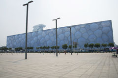 The 2008 Beijing Summer Olympic Stadium, the national swimming center, Stock Photos