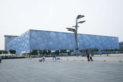 The 2008 Beijing Summer Olympic Stadium, the national swimming center, Royalty Free Stock Photos