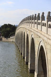 Beijing, the Summer Palace, the ancient stone bridge Royalty Free Stock Images