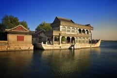 Beijing Summer Palace boat and lake Royalty Free Stock Image