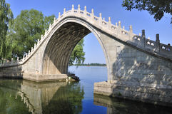 Beijing Summer Palace Bridge Stock Photography