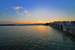 Beijing Summer Palace in the evening Royalty Free Stock Photography