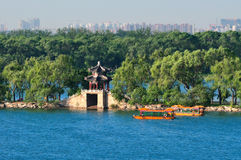 The Beijing Summer Palace lake Royalty Free Stock Images