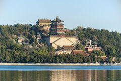 Beijing Summer Palace of Longevity Hill and Tower of Buddhist Incense Royalty Free Stock Photos