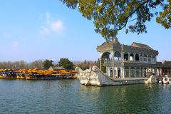 Beijing Summer Palace Marble Boat. Eastphoto, tukuchina, Beijing Summer Palace Marble Boat, City Landmark, China, Beijing Stock Photo