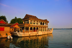 Beijing Summer Palace Marble Boat Royalty Free Stock Photos