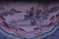 Beijing the Summer Palace murals of ancient buildings Stock Image