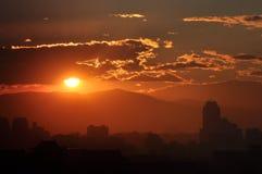 beijing sundown Arkivfoto