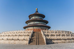 Beijing temple of heaven. Temple of heaven in Beijing on a clear winter day Royalty Free Stock Photo