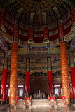 Beijing Temple of Heaven Temple of Heaven. Prayer Hall is the main building of the Temple of Heaven, also known as Qi Gu Dian, is the Ming and Qing dynasties royalty free stock image