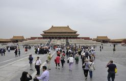 Beijing, 5th may: Tourists visiting the Hall of Supreme Harmony in the Forbbiden City in Beijing China