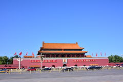 Beijing Tiananmen. The Tiananmen gate (The Tian'anmen Rostrum), is one of the most magnificent ancient tower Chinese, located in the People's Republic of China Royalty Free Stock Image