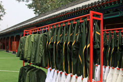 Beijing Tiananmen national flag guard airing clothing Royalty Free Stock Photos