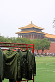 Beijing Tiananmen national flag guard airing clothing Royalty Free Stock Images