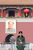 Beijing Tiananmen of the soldiers of Armed Police Stock Images
