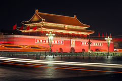 Beijing tiananmen square in China Royalty Free Stock Image