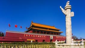 Beijing tiananmen square in China. Beijing is the capital of China, tiananmen square is the center of Beijing, it is also a sign of Beijing Stock Photo