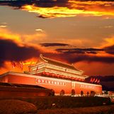 Beijing Tiananmen at sunset royalty free stock photography