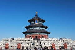 Beijing Tiantan Park Temple. Temple in the north of Tiantan, formerly known as the big prayer hall, built in the Ming Yongle eighteen years 1420. Ming Jiajing Royalty Free Stock Image
