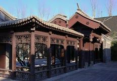 Beijing trädgård i gränd Royaltyfri Fotografi