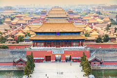 Beijing  traditional buildings of the Forbidden City,in China Royalty Free Stock Photography